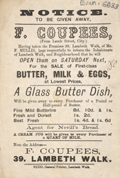 Advert For F. Coupees, Dairy Produce